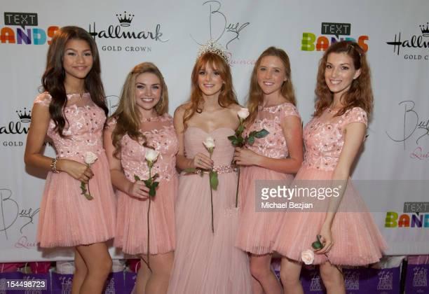 Zendaya Coleman Kailey Swanson Bella Thorne Bella Pendergast and Dani Thorne attend Hallmark Gold Crown And Text Bands Celebrates Bella Thorne's...