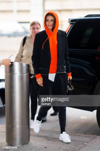 Zendaya is seen at JFK Airport in Queens on June 25 2019 in New York City