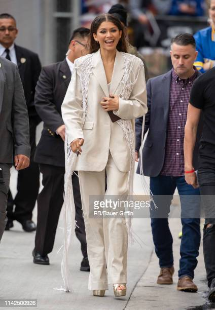 Zendaya is seen at 'Jimmy Kimmel Live' on May 09 2019 in Los Angeles California