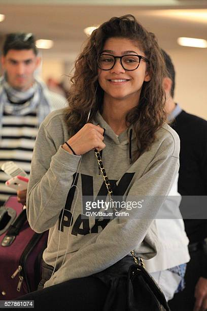 Zendaya is seen at LAX on May 03 2016 in Los Angeles California