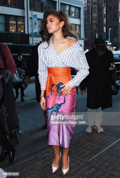 Zendaya is seen on December 11 2017 in New York City
