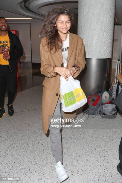 Zendaya is seen on November 22 2017 in Los Angeles California