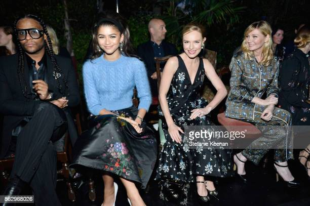 Zendaya Kate Bosworth and Kirsten Dunst at HM x ERDEM Runway Show Party at The Ebell Club of Los Angeles on October 18 2017 in Los Angeles California