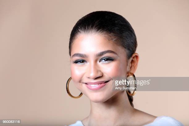 Zendaya poses at the Beautycon Festival NYC 2018 on April 22, 2018 in New York City.