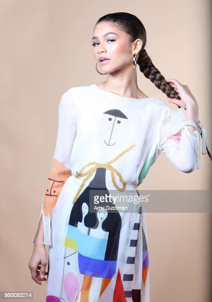 Zendaya poses at the Beautycon Festival NYC 2018 on April 22 2018 in New York City