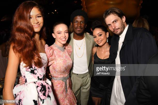 Zendaya Sydney Sweeney Labrinth Alexa Demie and Sam Levinson attend HBO's Official 2019 Emmy After Party on September 22 2019 in Los Angeles...