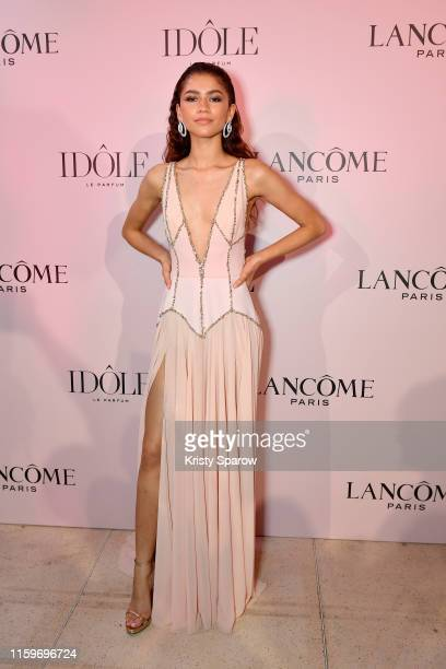 Zendaya the face of the Lancôme Idôle fragrance attends the launch at Palais D'Iena on July 02 2019 in Paris France