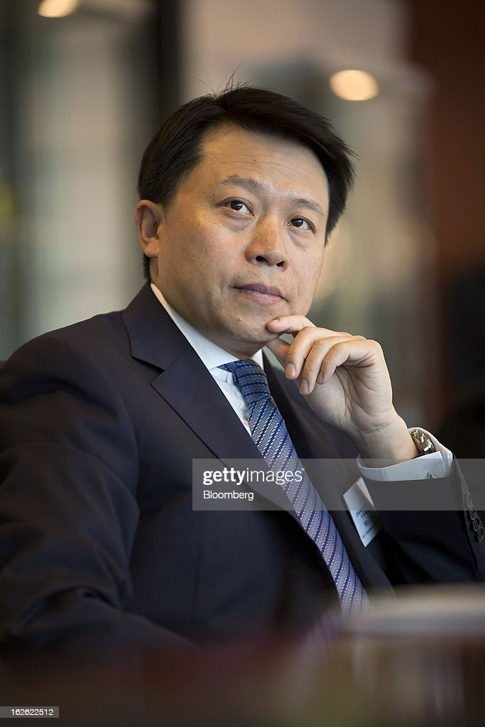 Zeng Chen, chief executive officer and co-vice chairman of Citic Resources Holdings Ltd., attends a news conference in Hong Kong, China, on Monday, Feb. 25, 2013. Citic Resources Holdings Ltd., a Chinese oil and coal producer, reported full year net loss of HK$1.26 billion before adjustments. Photographer: Jerome Favre/Bloomberg via Getty Images