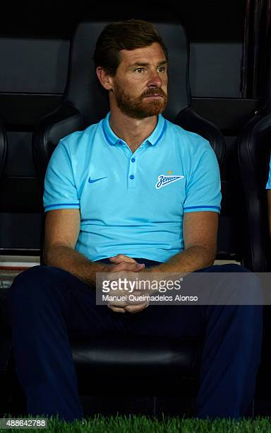 Zenit manager Andre VillasBoas looks on prior to the UEFA Champions League Group H match between Valencia CF and FC Zenit at the Estadi de Mestalla...