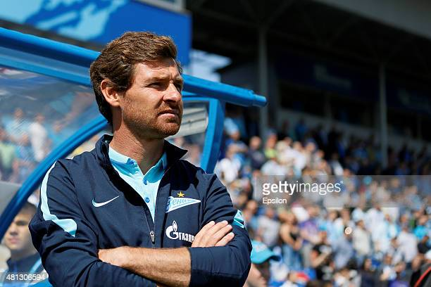 Zenit St Petersburg head coach Andre VillasBoas looks on during the Russian Football League match between FC Zenit St Petersburg and FC Dinamo Moscow...