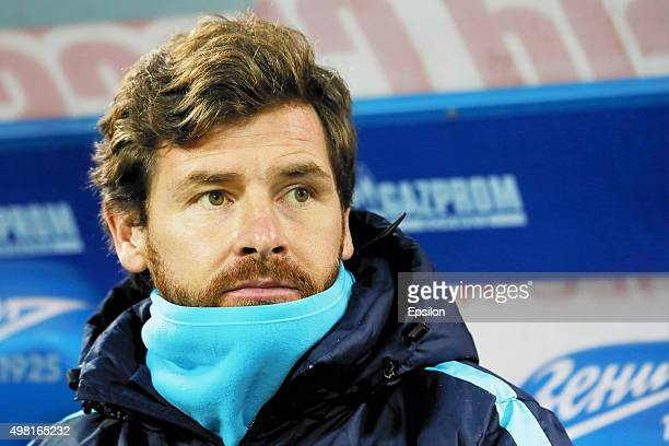 Zenit St Petersburg head coach Andre VillasBoas looks on during the Russian Football League match between FC Zenit St Petersburg and FC Ural...