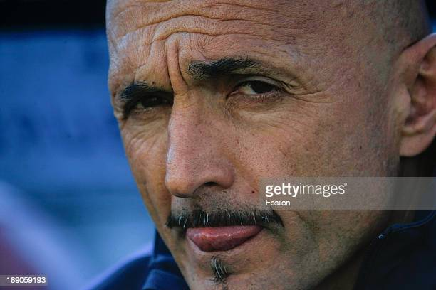 Zenit St Petersburg head coach Luciano Spalletti looks on during the Russian Premier League match between FC Zenit St Petersburg and FC Volga Nizhny...
