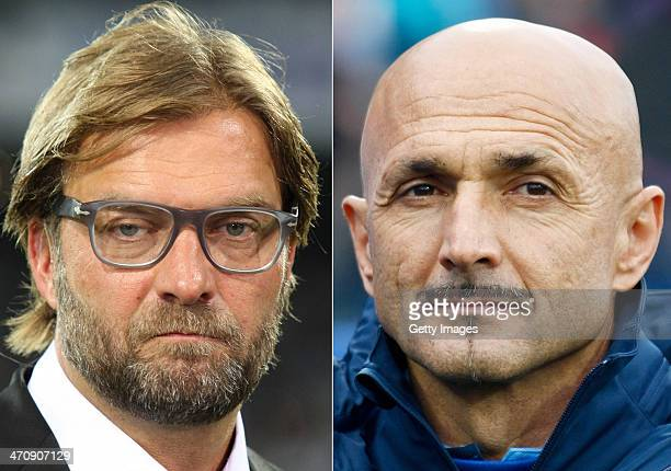 IMAGES Image Numbers 180967962 and 154454347 In this composite image a comparison has been made between Jurgen Klopp Head Coach of Borussia Dortmund...