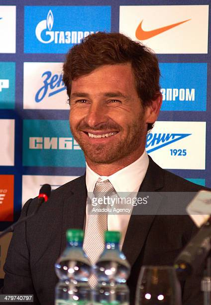 Zenit St Petersburg's new Portuguese head coach Andre VillasBoas holds a press conference in St Petersburg Russia on March 20 2014