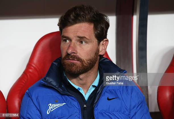 ZenitÕs coach from Portugal Andre Villas Boas before the start of the UEFA Champions League Round of 16 First Leg match between SL Benfica and FC...