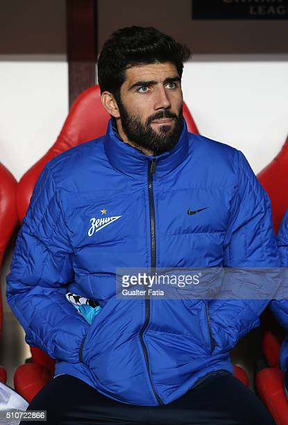 ZenitÕs defender from Portugal Luis Neto before the start of the UEFA Champions League Round of 16 First Leg match between SL Benfica and FC Zenit at...