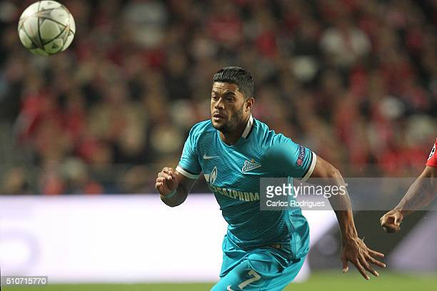 Zenit's forward Hulk during the match between SL Benfica and FC Zenit for the UEFA Champions League Round of 16 First Leg at Estadio da Luz on...