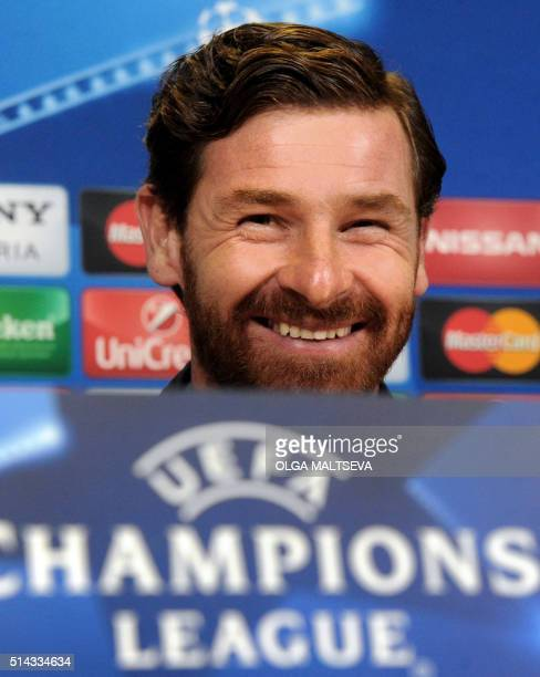 Zenit's Portuguese coach Andre VillasBoas attends a press conference on March 8 on the eve of the secondleg round of 16 UEFA Champions league...