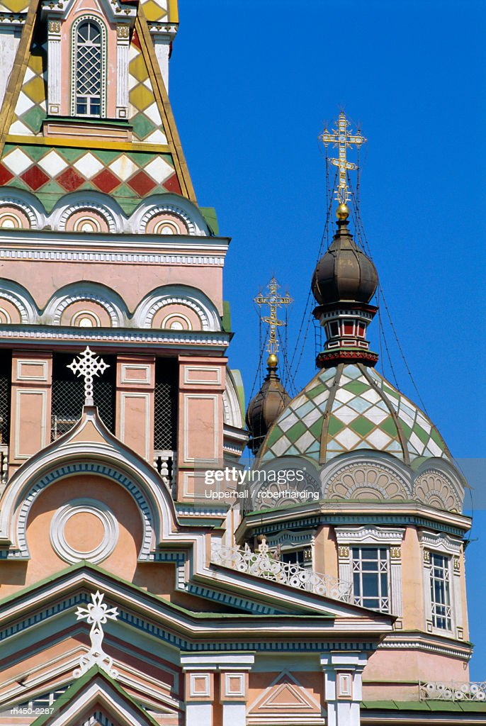 Zenkov Cathedral, 1904, made of wood with no nails, Almaty, Kazakhstan, Central Asia : Stockfoto
