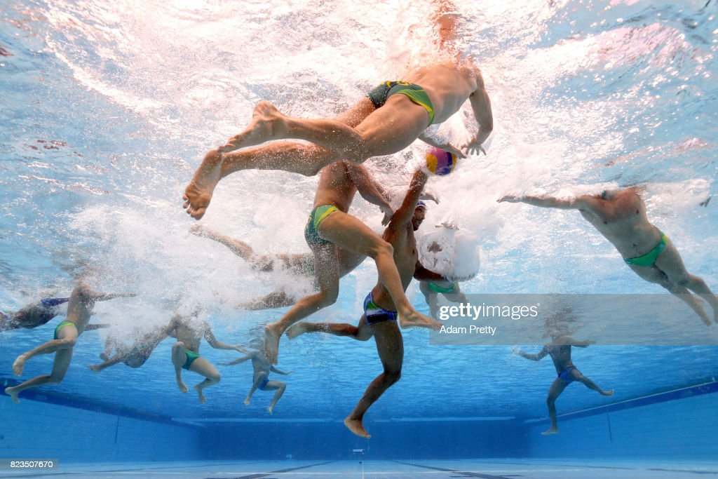 Zeno Bertoli of Italy in action during the Men's Water Polo classification match between Australia and Italy on day fourteen of the Budapest 2017 FINA World Championships on July 27, 2017 in Budapest, Hungary.