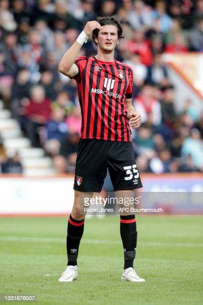 Zeno Ibsen Rossi of Bournemouth during the Carabao Cup 1st Round match between AFC Bournemouth and MK Dons at Vitality Stadium on July 31, 2021 in...