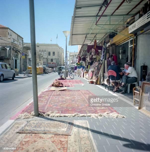 Zenza bronica, kodak ektar 100, tel aviv, old jaffa, market, flea market, israel, carpets, street, sellers, filmphotography, analogphotography