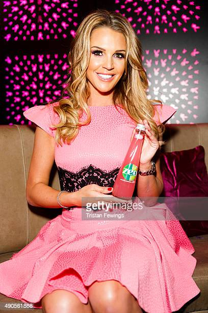 Zeo pink ambassador Danielle Lloyd paints the town pink to kickstart breast cancer awareness month at Playboy Club on September 29 2015 in London...