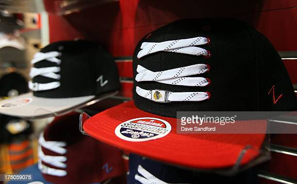 Zephyr Headwear products on display during 2013 NHL Exchange the annual NHL  Licensed Products forum at 34aa0ecddf3