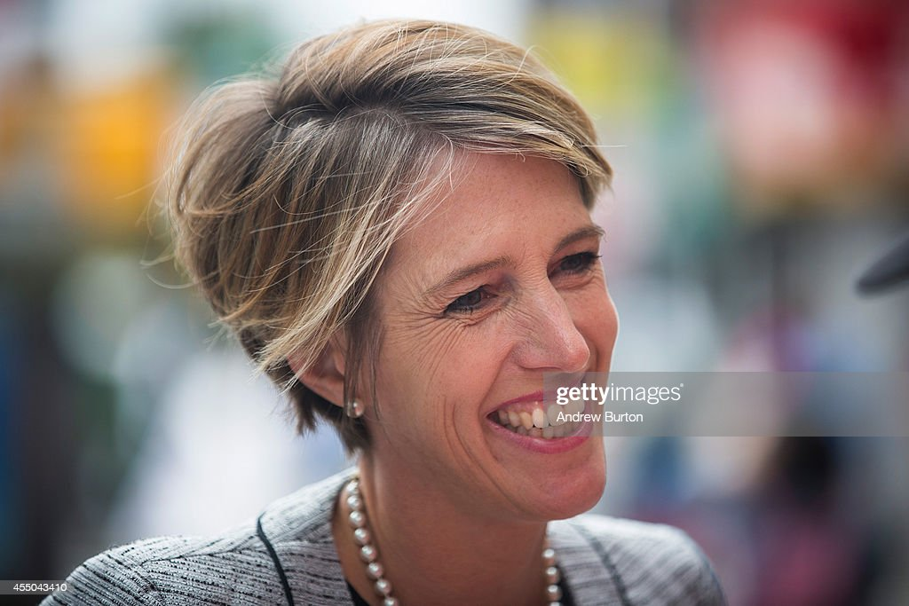 Challenger To Gov. Cuomo In State Primary, Zephyr Teachout Greets Voters : News Photo