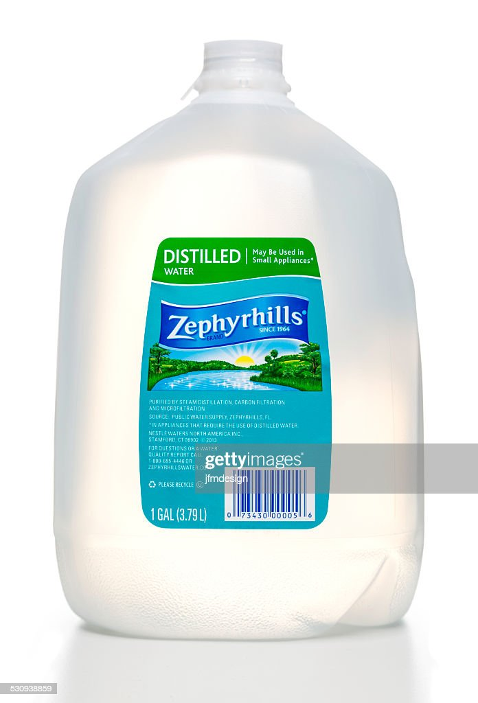 Zephyrhills Distilled Water Bottle Stock Photo - Getty Images
