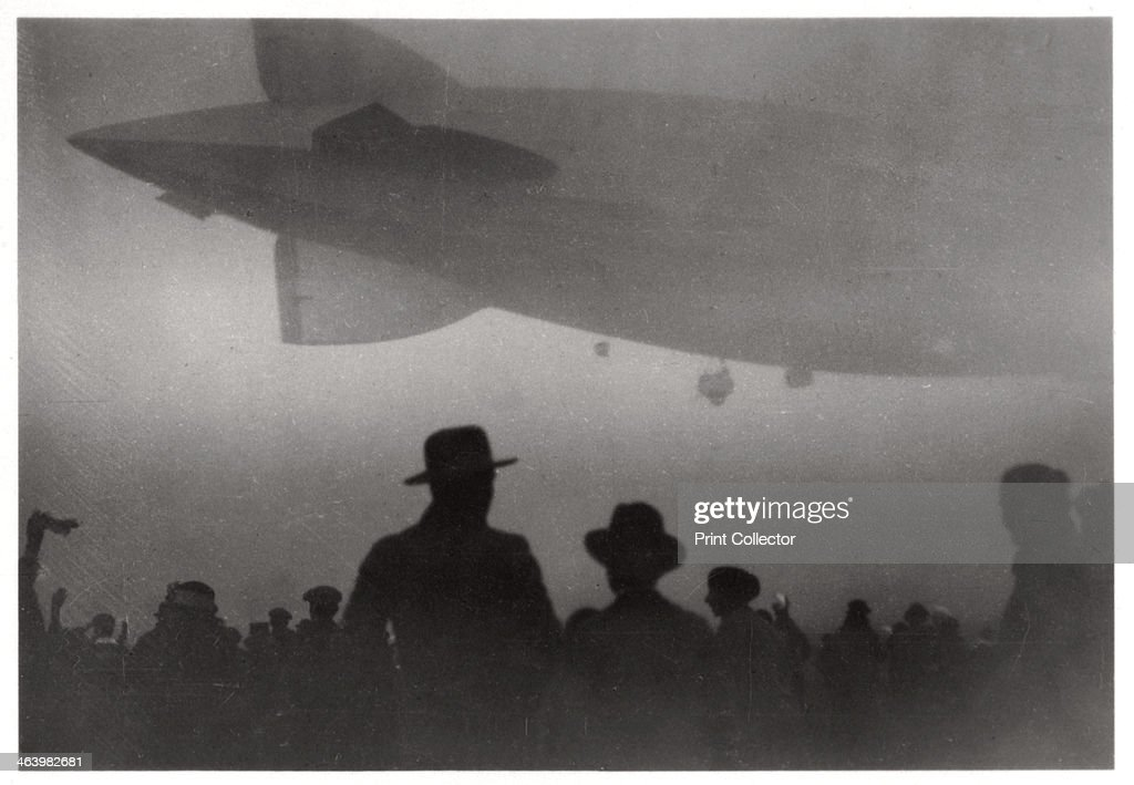 Zeppelin LZ 126 ascending in fog, c1924-1933 (1933). : News Photo