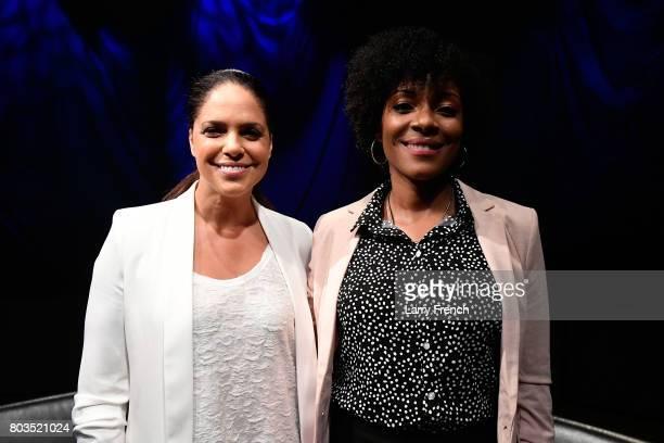 Zerlina Maxwell hosts Soledad O'Brien on Leading Ladies on SiriusXM Progress channel at SiriusXM Studio on June 29 2017 in Washington DC