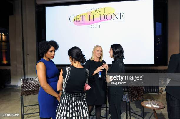 Zerlina Maxwell Linda Wells and Karen Wong attend The Cut's How I Get It Done event at Neuehouse on April 11 2018 in New York City