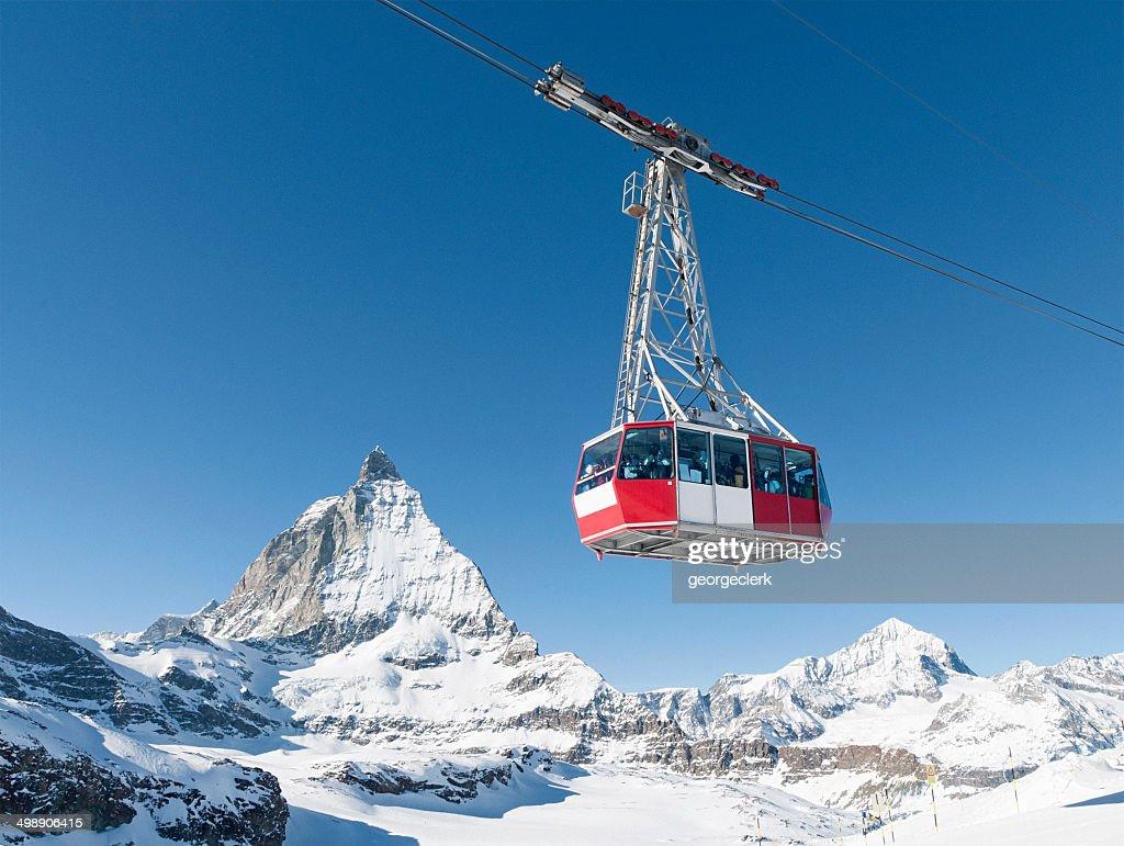 Zermatt cable car : Stock Photo