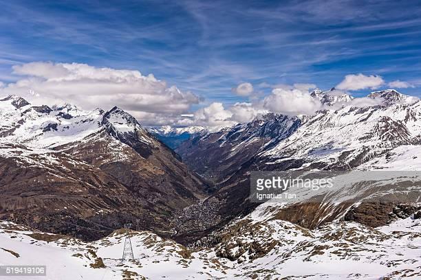 zermatt seen from trockener steg - ignatius tan stock photos and pictures