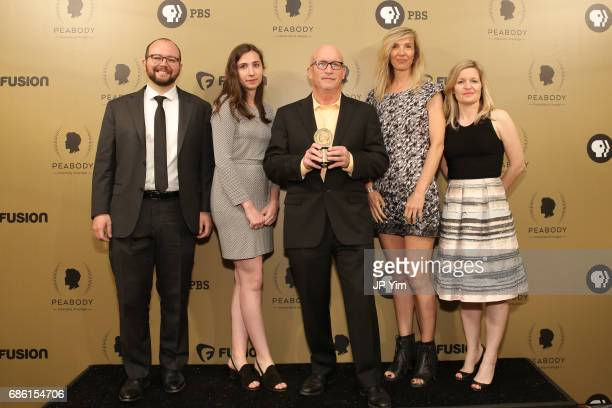 Zero Days director Alex Gibney poses backstage during The 76th Annual Peabody Awards Ceremony at Cipriani Wall Street on May 20 2017 in New York City