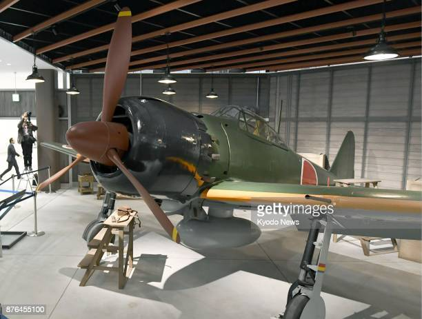 A Zero Fighter a World War II Japanese Imperial Navy aircraft which gained a legendary reputation as a dogfighter is displayed on Nov 20 2017 at...