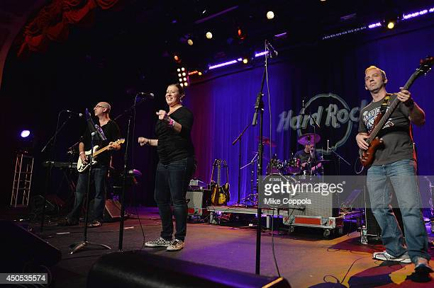 Zero Recall performs at the Big Kids Rock A Battle Of The Bands To Benefit Little Kids Rock at Hard Rock Cafe Times Square on June 12 2014 in New...