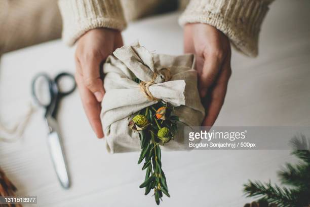 zero waste christmas gift - 0 1 months stock pictures, royalty-free photos & images
