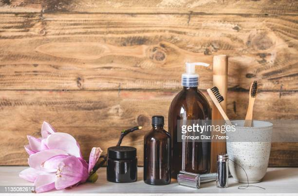 zero waste personal hygiene set - toiletries stock pictures, royalty-free photos & images