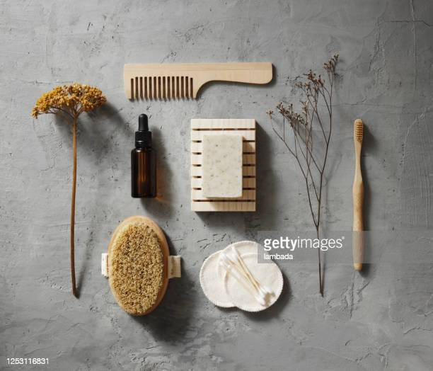 zero waste self-care kit - cosmetics stock pictures, royalty-free photos & images