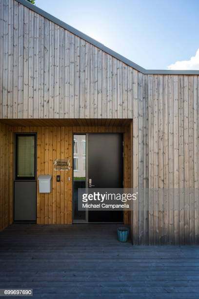 A zeroemissions home built for an exhibition during the 2017 Starmus Festifval on June 22 2017 in Trondheim Norway