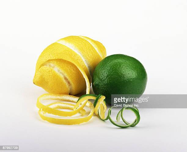 Zesting lemon and lime