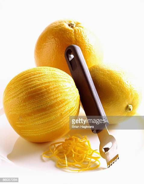 Zesting orange and lemon