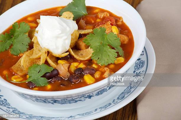 ゼスティチキンタコスのスープ