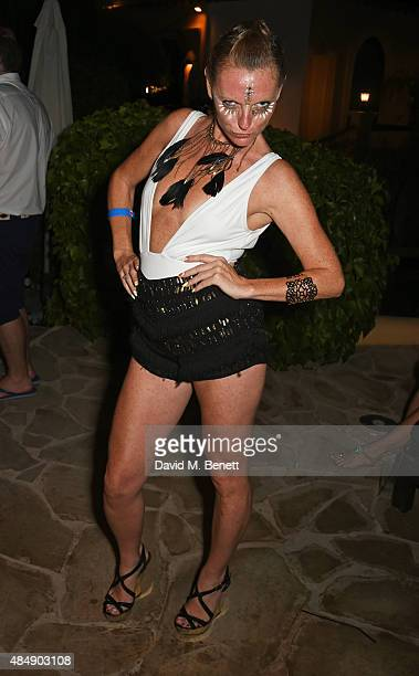 Zeta Maria Kearney attends the Groucho's 30th birthday party at Pikes on August 22 2015 in Ibiza Spain