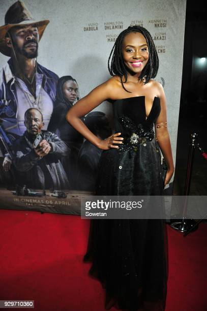 Zethu Dlomo during Five Fingers for Marseilles movie premiere at the Market Theatre on March 08 2018 in Johannesburg South Africa After its world...