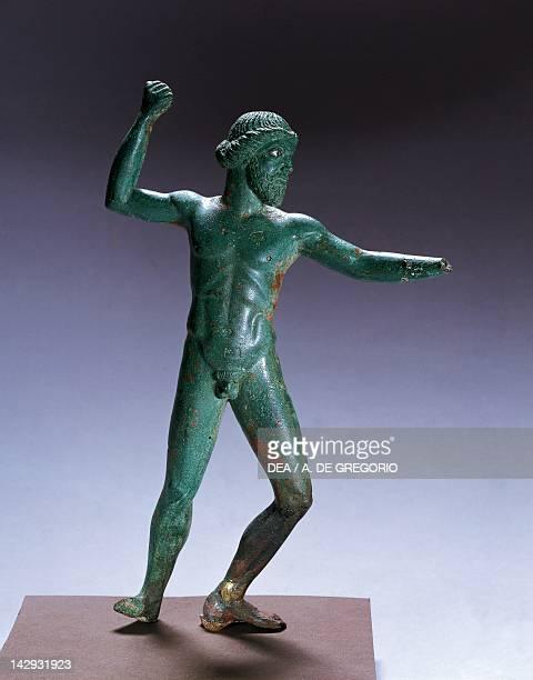 Zeus Dodoneo with a thunderbolt 480470 BC from Apollonia in Illyria Albania Greek civilization 5th Century BC Tirana Museo Archeologico