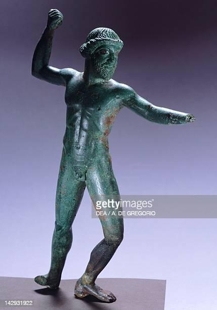 Zeus Dodoneo with lightning 480470 BC statue from Apollonia Greek Civilization 5th Century BC Tirana Museo Archeologico