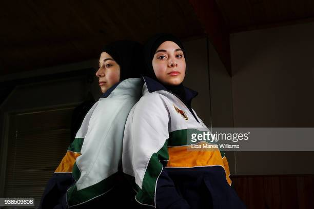 Zeynab Alshelh Medical Science student and 2017 Australian National Karate Champion poses during a sparring session at Bankstown on September 03 2017...